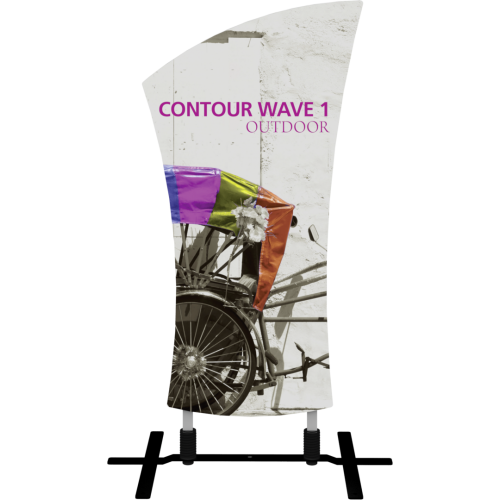 Contour Outdoor Sign Wave 1 - Plate Base